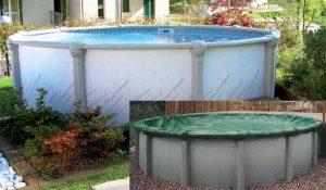 copertura per chiusura invernale piscine fuori terra
