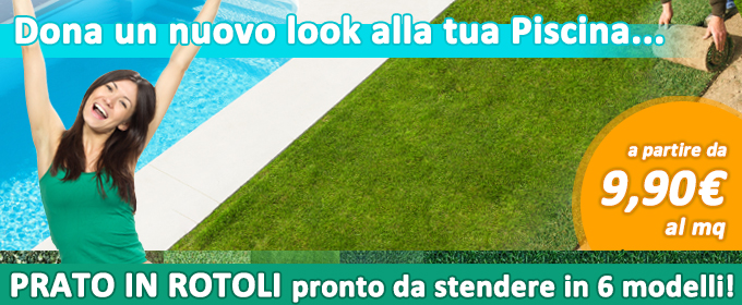 Piscine interrate fuori terra e accessori per piscina - Prato in rotoli prezzo ...