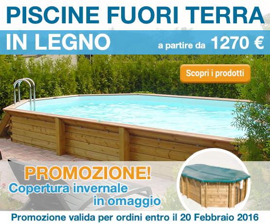 Promozione Banner piscine in legno febbraio