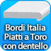 Bordi per piscina piatti a TORO CON DENTELLO made in Italy