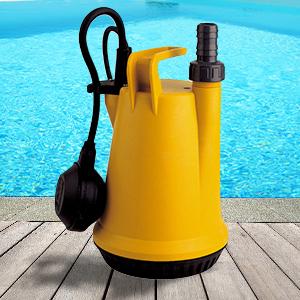 Pomper sommerse per svuotamento piscine e teli for Teli per piscine interrate