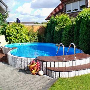 Piscine interrate fuori terra e accessori per piscina for Piscine seminterrate