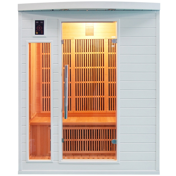 Sauna a raggi infrarossi Snow 2 - 3 posti  BSVillage.com