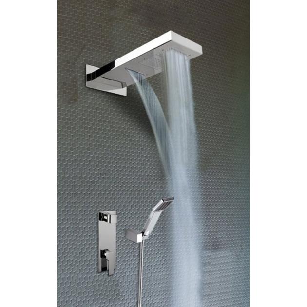 Braccio doccia NIRVANA con doppio soffione incassato ...