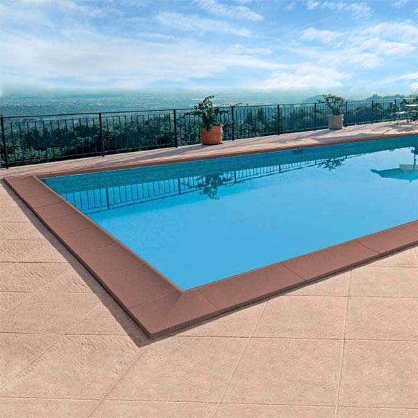 Bordo sagomato standard color cotto liscio per piscina - Piante per bordo piscina ...
