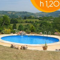 Piscina interrata circolare CLIO Light 350 L - Ø 350 h.1,20 m