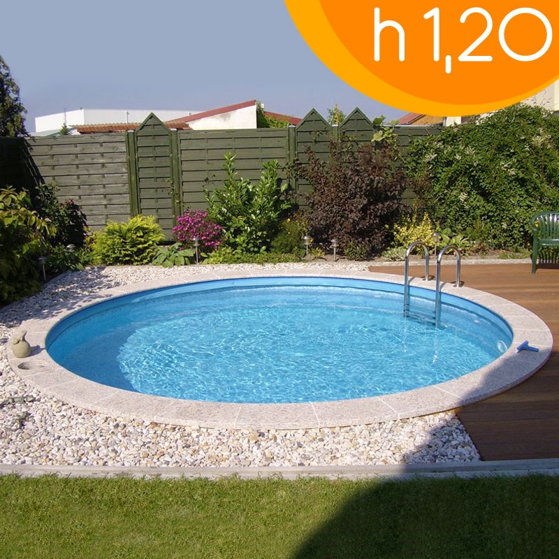Piscina interrata circolare clio 350 350 h 120 - Piscina interrata ...