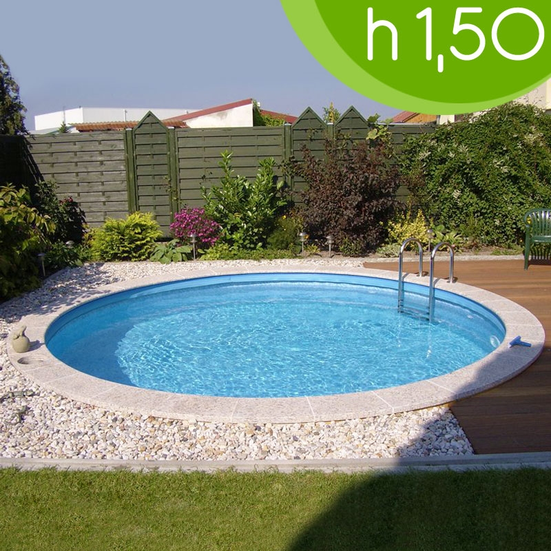 Piscina interrata circolare clio 400 400 h 150 - Piscine piccole interrate ...