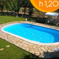 Piscina interrata OLIVIA 800 - 8,00 x 4,00 x h 1,20 m