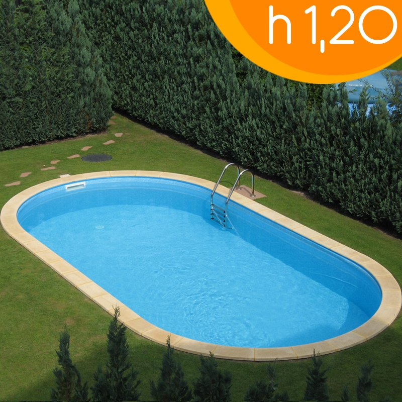 Piscina interrata olivia 800 8 00 x 4 00 x h 1 20 m - Costo piscine interrate ...