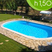 Piscina interrata OLIVIA 737 - 7,37 x 3,60 x h 1,50 m