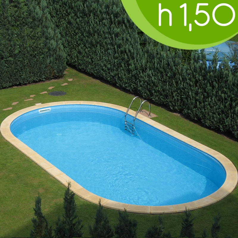Piscina interrata olivia 700 7 37 x 3 60 x h 1 50 m for Piscine enterree 6x4