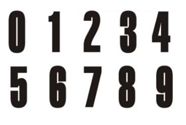 Numeri adesivi per blocchi di partenza da 0 a 9 for Adesivi per piscine