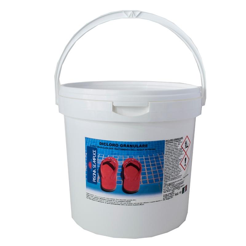 Dicloro 56 granulare per trattamento acqua piscina for Acqua per piscine