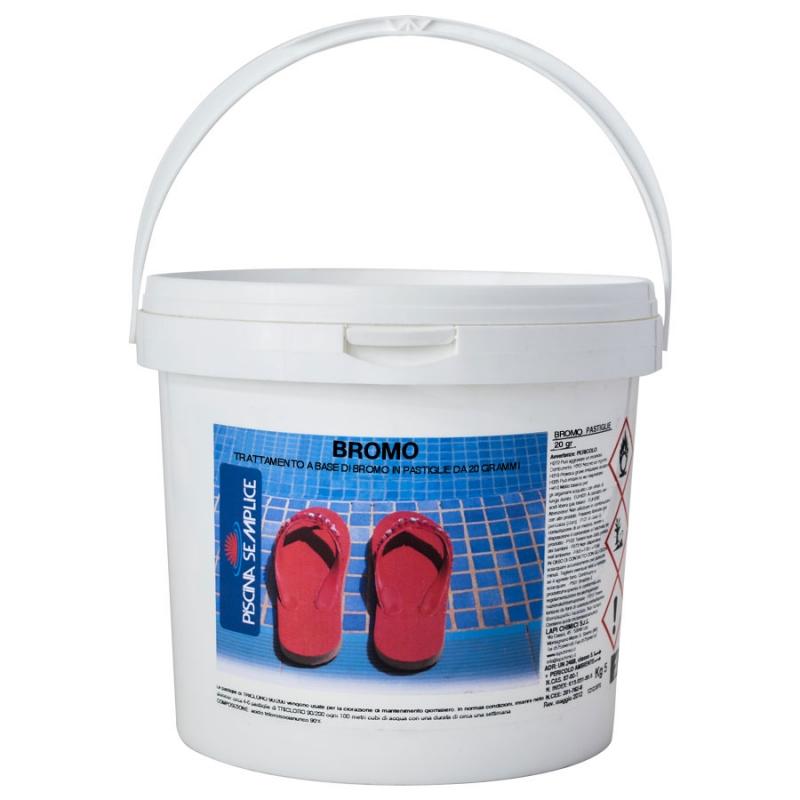 Bromo cloro in pastiglie 20 gr secchio 5 kg - Pastiglie piscina ...