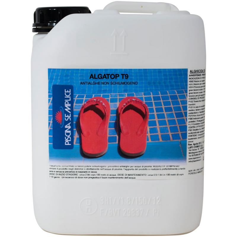 Antialghe piscina alghicida t9 non schiumogeno - Trattamento antialghe piscina ...