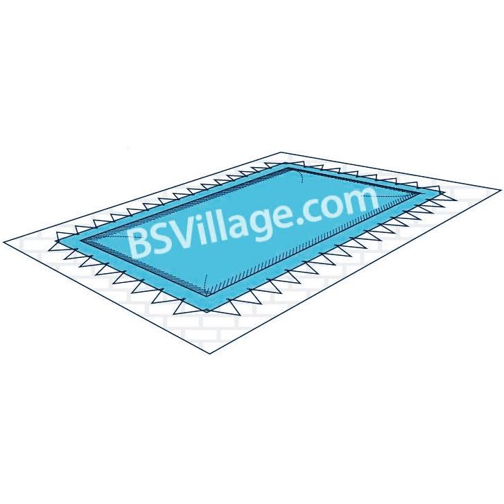 Copertura invernale in pvc per piscina draincover con for Prezzo finestre pvc al mq