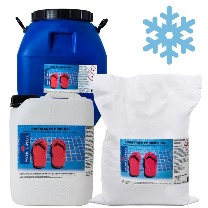 Kit mix prodotti chimici per chiusura invernale piscina inv400 - Chiusura invernale piscina ...