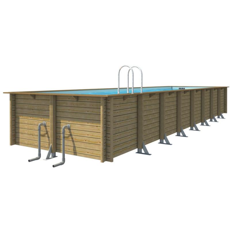 Piscina in legno fuori terra odyssea 12x3 rettangolare for Piscina 50 m