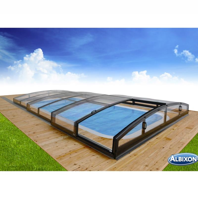 Copertura telescopica piscina CASABLANCA INFINITY Albixon  BSVillage.com