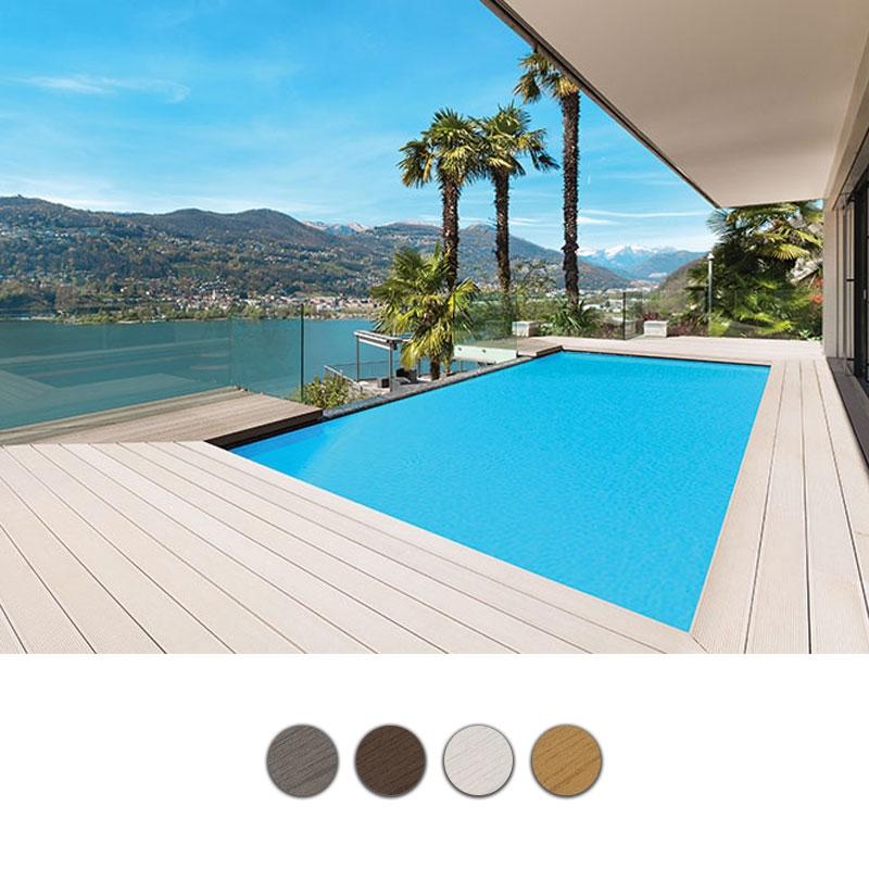 Listone in legno composito wpc bamboo per pavimentazione - Recinzione piscina legno ...