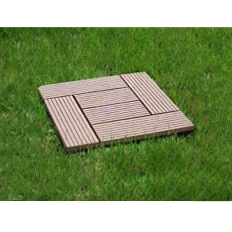 Quadrotta autobloccante in legno composito wpc per for Recinzioni in legno composito
