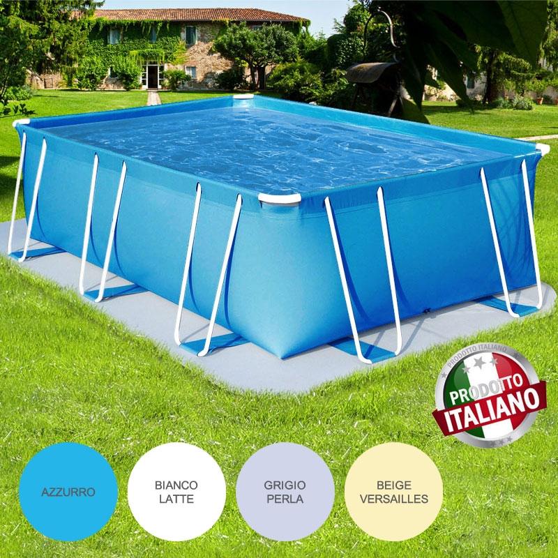 Piscina fuori terra rettangolare como italica 4 00x2 00 h for Immagini di piscine fuori terra
