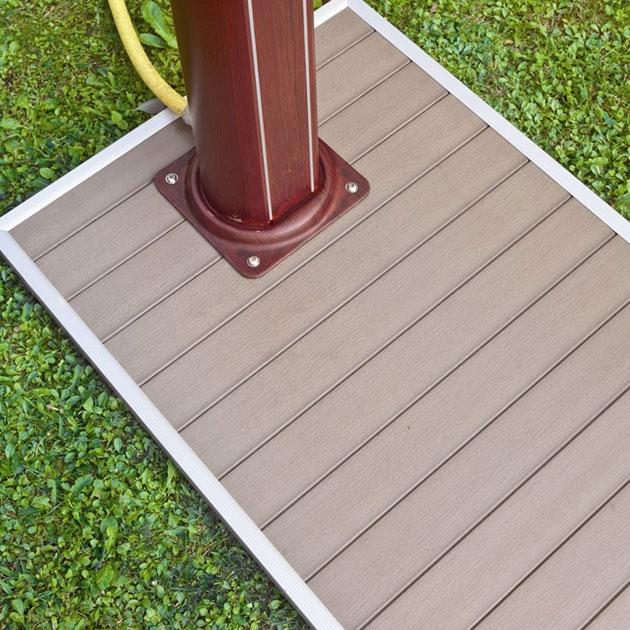 Piatto doccia in pvc 60 x 90 effetto legno - Doccia per esterno ...