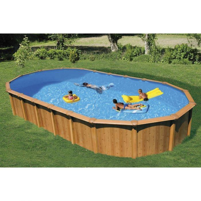 piscina fuori terra ovale woody 950 9 15 x 4 60 x h 1 32 m. Black Bedroom Furniture Sets. Home Design Ideas