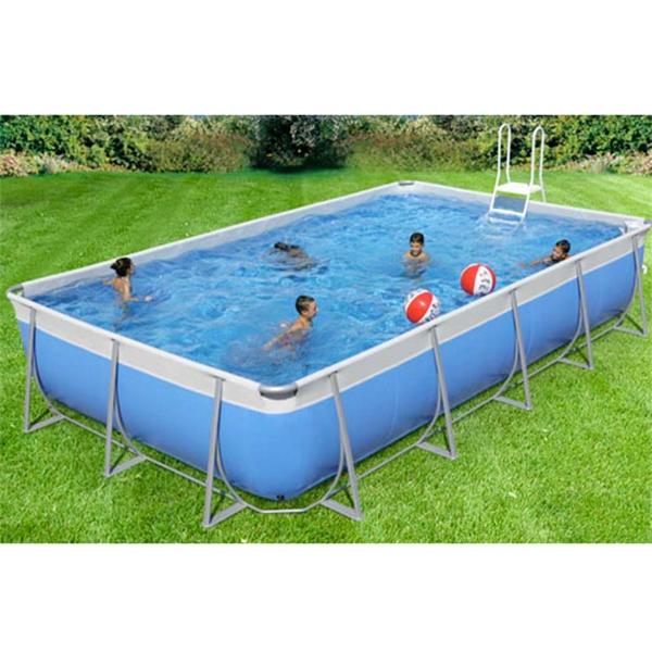 Piscina fuori terra rettangolare technypools niagara 550 for Kit piscina fuori terra