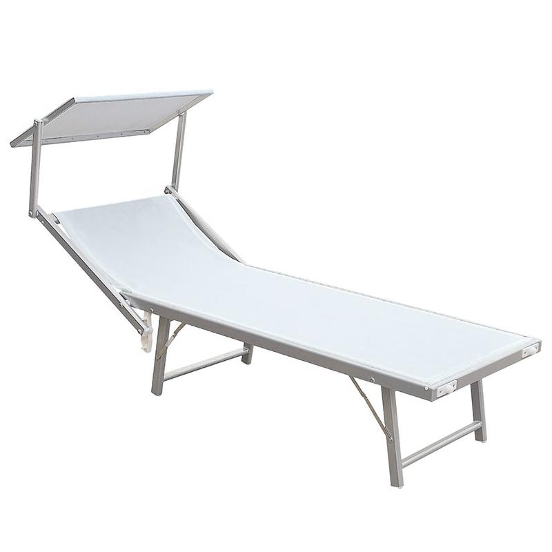 Lettino prendisole ibiza colore bianco o blu - Lettino piscina alluminio ...