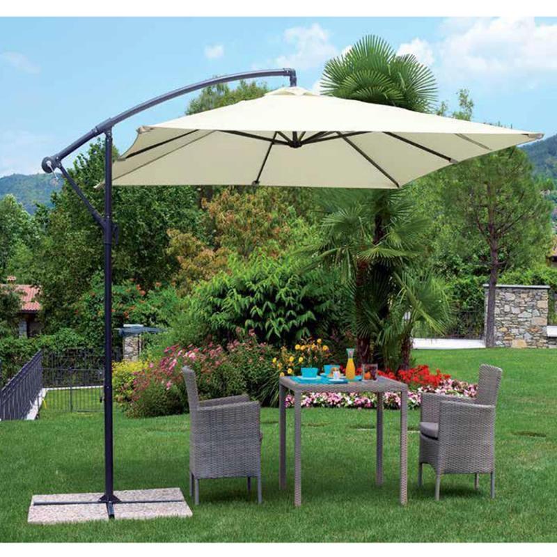 Ombrellone firenze quadrato 2 7x2 7 mt con palo laterale for Arredo giardino firenze