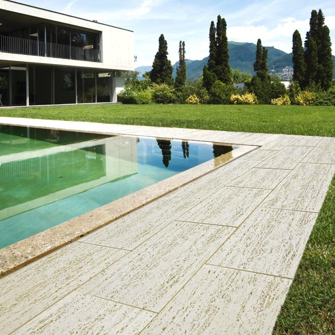 Lastra pavimentazione travertino 50 x 30 prezzo al mq - Pavimentazione giardino ...