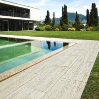 Lastra pavimentazione travertino 50 x 30 prezzo al mq - Pavimentazione giardino senza cemento ...