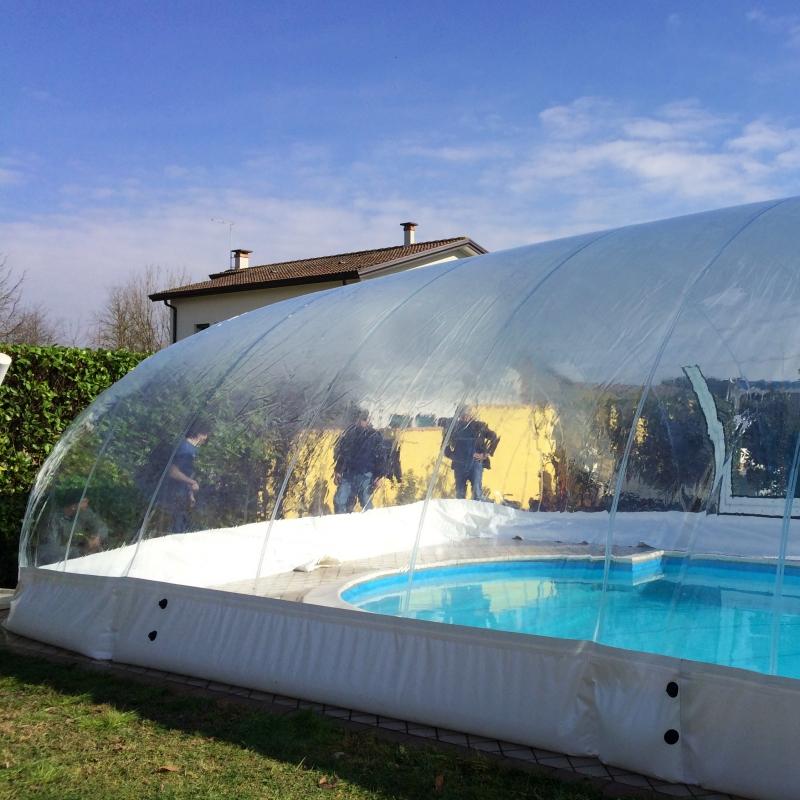 Copertura gonfiabile cristalball solar per piscina dimensioni standard - Poltrone gonfiabili per piscina ...