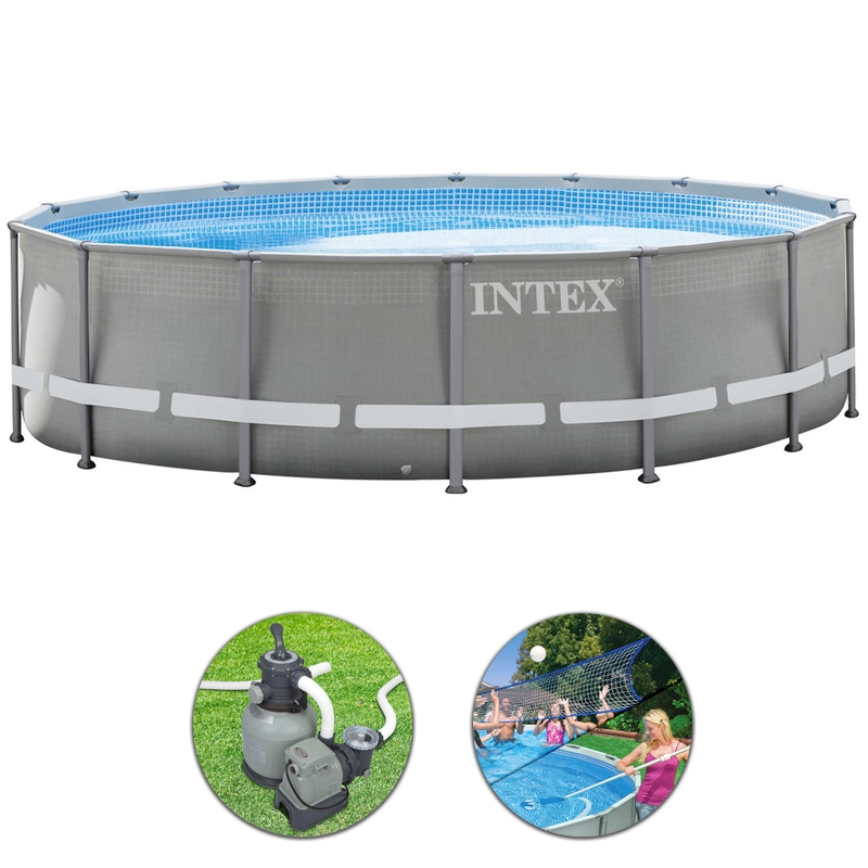 Piscina intex ultra frame 5 49 h 1 32 m for Piscine intex 5 m