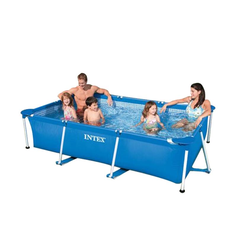 piscina rettangolare intex metal frame