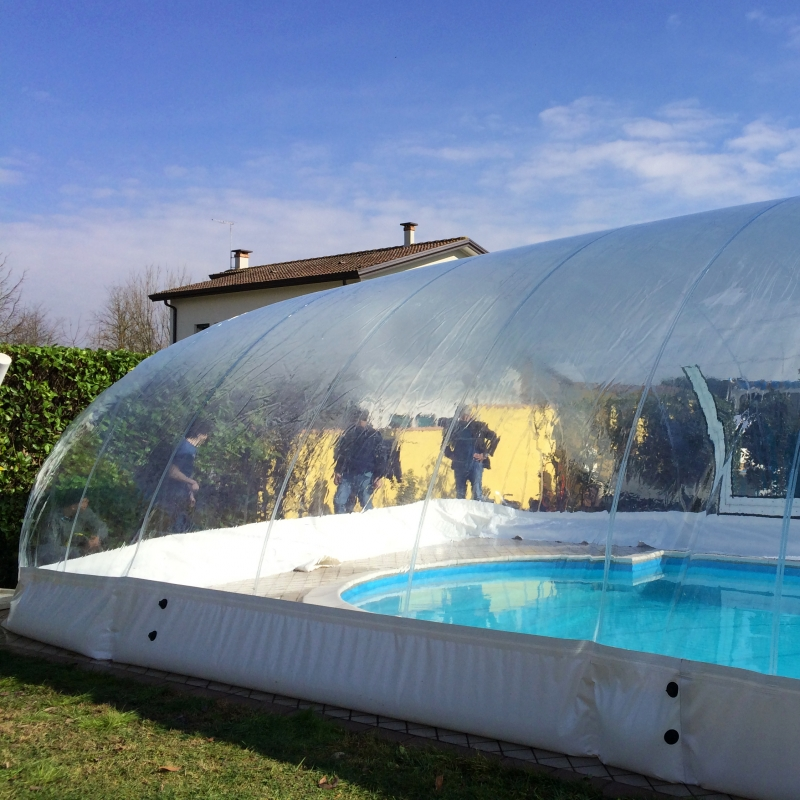 Copertura gonfiabile cristalball solar per piscina prezzo al mq - Piscine gonfiabili da giardino ...