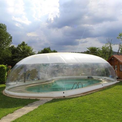 Copertura gonfiabile cristalball wht per piscina dimensioni standard - Coperture mobili per piscine ...