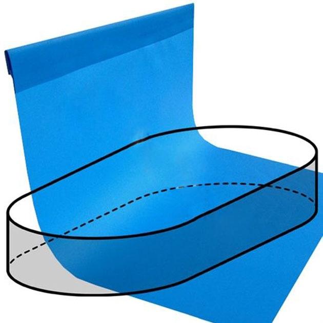 Telo rivestimento liner per piscina a forma ovale 11 00 x 5 50 m - Liner per piscine ...