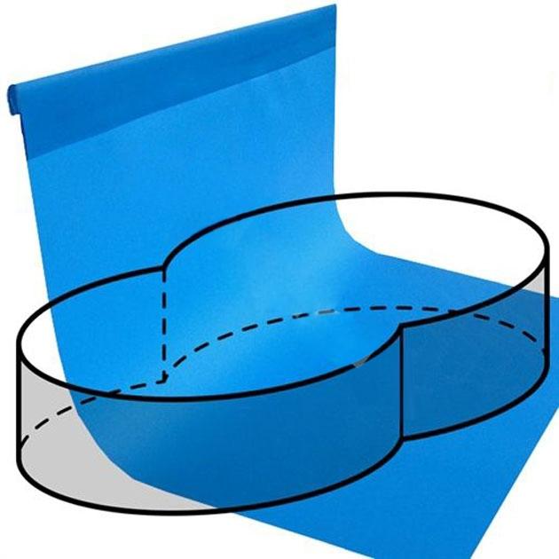 Telo rivestimento liner per piscina a forma di otto 5 40 x for Liner piscine diametre 3 50