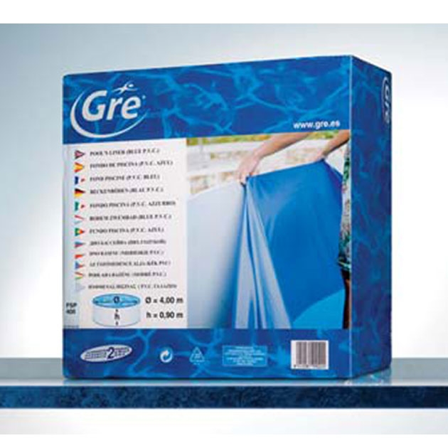 liner blu 0 4 mm per piscine gre dream pool tonde. Black Bedroom Furniture Sets. Home Design Ideas
