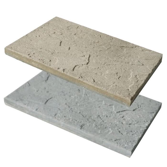 Lastra piastrella in pietra ricostruita scisto 40 x 60 cm - Pavimentazione giardino in pietra ...