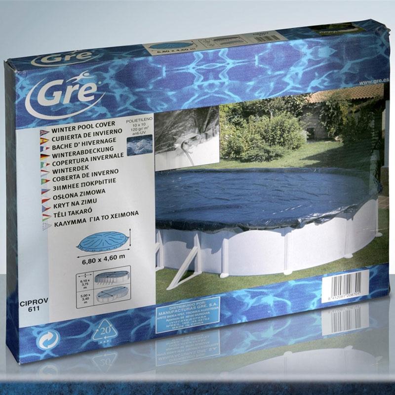 Copertura invernale gre per piscine tonde for Copertura invernale piscina gre