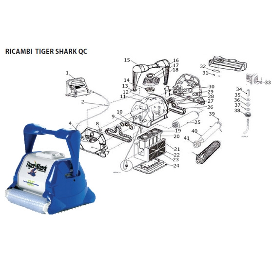 Ricambi per robot Aquavac-Hayward TIGERSHARK QC