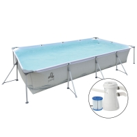 Piscina fuori terra PASSAAT Grey Jilong 394 x 207 h80 cm