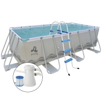 Piscina fuori terra PASSAAT Grey Jilong 400 x 200 h99 cm