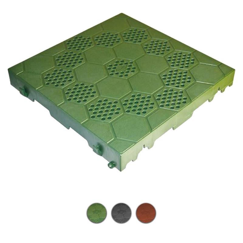 Piastrelle Plastica Da Giardino Prezzi.Piastrella In Pvc Ad Incastro Semiforata 400x400 Mm Prezzo Al Mq