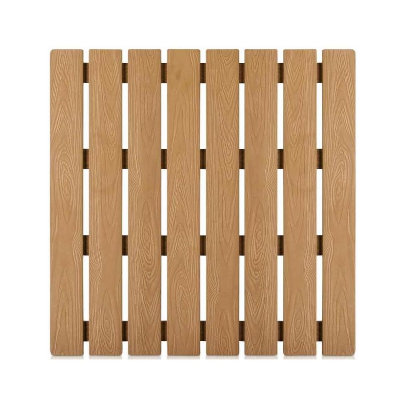Base in pvc per docce solari a effetto legno - Piatto doccia per esterno ...