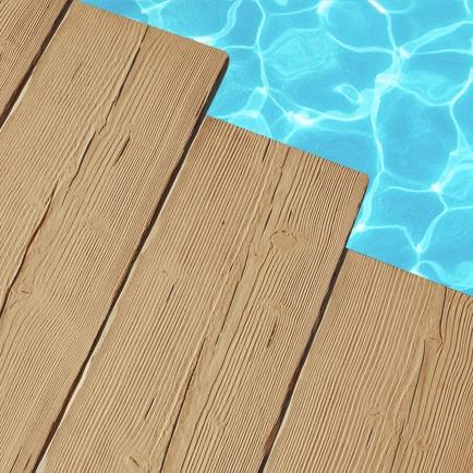 Listone bordo piscina legno autentika 90 x 25 h 5 cm for Piscina h 90